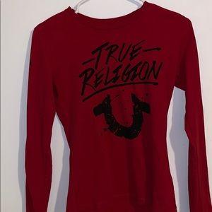red true religion long sleeve shirt